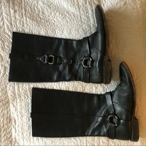 Frye 9 black leather Western style boot GUC